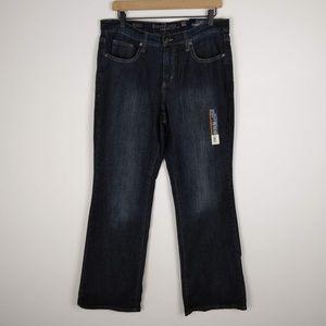 NWT Faded Glory High Rise Dark Wash Boot Cut Jeans